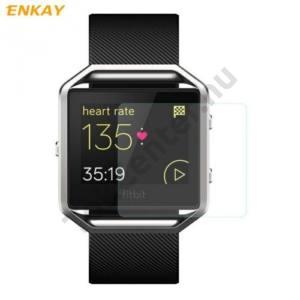 ENKAY képernyővédő fólia (1 db, edzett üveg, 2.15D lekerekített szél, 0.2mm, 9H, NEM ÍVES) TEMPERED GLASS Fitbit Blaze