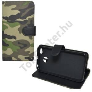 HUAWEI P10 Lite Tok álló, bőr (FLIP, mágneses, oldalra nyíló, asztali tartó funkció) TEREPMINTA