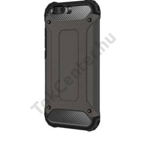 HUAWEI Mate 10 Lite Defender műanyag telefonvédő (közepesen ütésálló, gumi / szilikon belső, fémhatás) FEKETE