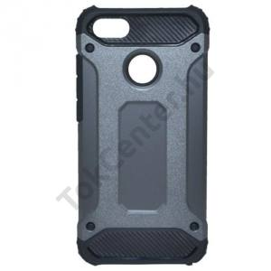 HUAWEI P9 lite mini Defender műanyag telefonvédő (közepesen ütésálló, gumi / szilikon belső, fémhatás) SZÜRKE