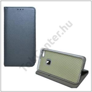 SAMSUNG Galaxy S9 Plus (SM-G965) Tok álló, bőr (FLIP, oldalra nyíló, asztali tartó funkció, rombuszminta) EZÜST