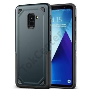 SAMSUNG Galaxy S9 Plus (SM-G965) Defender műanyag telefonvédő (közepesen ütésálló, gumi / szilikon belső) SÖTÉTKÉK/SZÜRKE