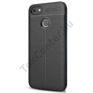 NOKIA 7 Telefonvédő gumi / szilikon (bőrhatás, varrás minta) FEKETE