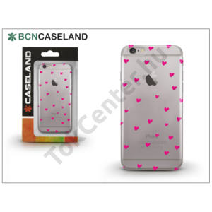 Apple iPhone 7 Plus /APPLE iPhone 8 Plus 5.5`` szilikon hátlap - BCN Caseland Hearts - transparent