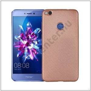 SAMSUNG Galaxy S9 (SM-G960) Telefonvédő gumi / szilikon (karbon minta) ROZÉARANY