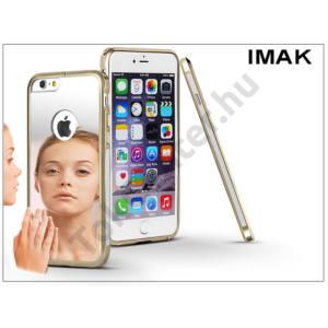 Apple iPhone 6 Plus/6S Plus fém tükrös hátlap és keret - IMAK Mirror Zine - szürke