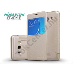 Samsung J510FN Galaxy J5 (2016) oldalra nyíló flipes tok - Nillkin Sparkle - gold