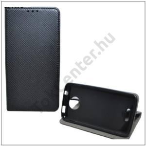 APPLE IPhone 7 Plus / 8 Plus 5.5`` Tok álló, bőr (FLIP, oldalra nyíló, asztali tartó funkció, rombuszminta) FEKETE