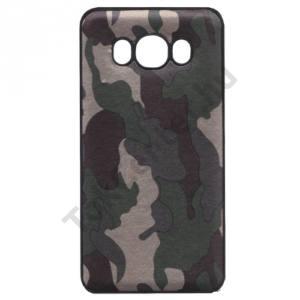 HUAWEI P10 Lite Telefonvédő gumi / szilikon (terepminta) FEKETE/ZÖLD