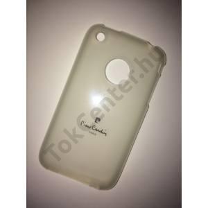 Apple iPhone 3G/3GS Pierre Cardin átlátszó tok + képernyővédő fólia, 2 termék/csomag