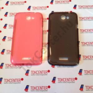 HTC One X (S720E) szilikon tok, rózsaszín és fekete színben, 2 db/csomag