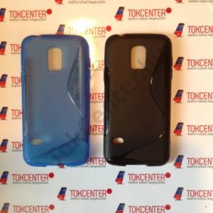 Samsung Galaxy S V. mini (SM-G800) világoskék és fekete s-line tok, 2 db/csomag