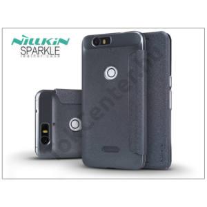Huawei Nexus 6P oldalra nyíló flipes tok - Nillkin Sparkle - fekete