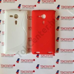 Sony Xperia SP M35h piros + fehér s-line szilikon tok, 2 db/csomag