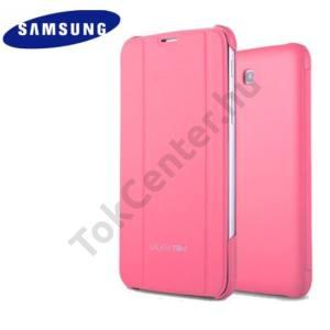Samsung Galaxy Tab 3 7.0 3G/LTE Gyári BOOK COVER, Flip, Oldalra nyíló, Kitámasztható, RÓZSASZÍN