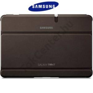 Samsung Galaxy Tab2 10.1 (P5100) Műanyag telefonvédő (flip, asztali tartó funkció) BARNA