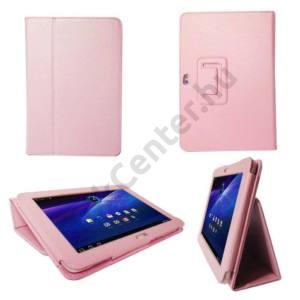 Samsung Galaxy Tab2 10.1 (P5100) Tok álló, bőr, Flip, Oldalra nyíló, Asztali tartó funkció, RÓZSASZÍN