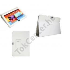 Samsung Galaxy Tab 3 7.0 Tok álló bőr, Flip, Oldalra nyíló, Asztali tartó funkció, FEHÉR
