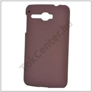SAMSUNG Galaxy Tab3 7.0 Műanyag telefonvédő (gumírozott, érdes felületű) BARNA
