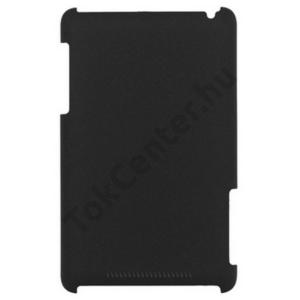 SAMSUNG Galaxy Tab3 7.0 Műanyag telefonvédő (gumírozott, érdes felületű) FEKETE