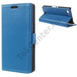 Samsung Galaxy Tab4 8.0 LTE (SM-T335) Tok álló, bőr (FLIP, asztali tartó funkció, bankkártya tartó) VILÁGOSKÉK