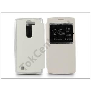 LG G4c H525N/Magna H500 S-View Flexi oldalra nyíló flipes tok - fehér