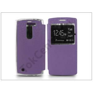 LG G4c H525N/Magna H500 S-View Flexi oldalra nyíló flipes tok - lila