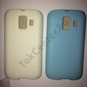 Huawei Ascend Y200 (U8655) fehér és világoskék szilikon telefontok, 2 db/csomag