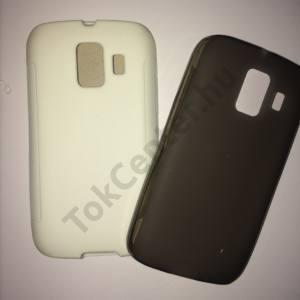 Huawei Ascend Y200 (U8655) fehér és füstszínű szilikon telefontok, 2 db/csomag