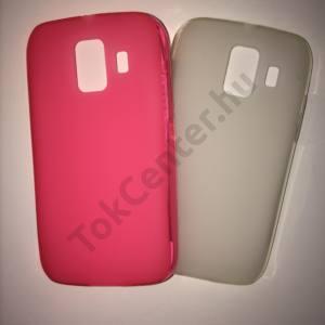 Huawei Ascend Y200 (U8655) átlátszó szilikon tok (matt, fényes keret) és rózsaszín szilikon telefontok, 2 db/csomag