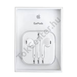 Apple gyári - Earpods 3,5 mm-es fejhallgató-csatlakozóval, MD827ZM/A, stereo headset DOBOZOS, FEHÉR