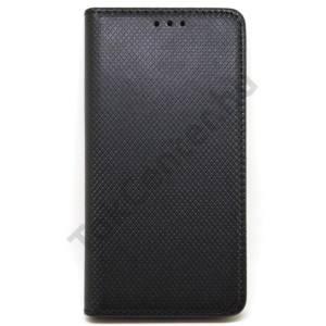 LG K10 (2017) flip oldalra nyíló tok, Fekete