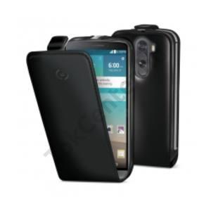 Celly LG G3 mágneses flip tok, fekete