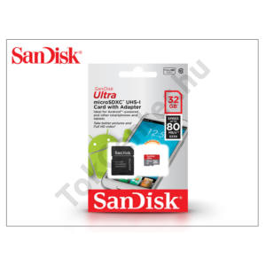 32 GB microSDHC™ UHS-1 Class 10 memóriakártya + SD adapter