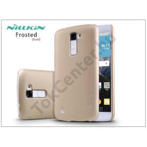 LG K10 K420N hátlap képernyővédő fóliával - Nillkin Frosted Shield - gold