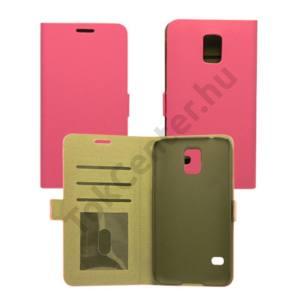Galaxy J5 flip,oldalra nyitható tok,Pink