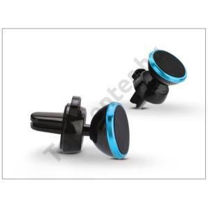 Univerzális szellőzőrácsba illeszthető mágneses PDA/GSM autós tartó - állítható fejjel - kék