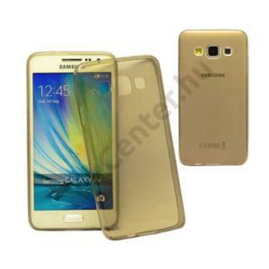 Galaxy A3 ultravékony szilikon hátlap,Fekete
