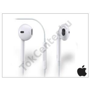 Apple iPhone 3G/3GS/4/4S/5/5S/5C/SE/6/6S/6 Plus/6S Plus eredeti távirányítós, sztereó headset mikrofonnal - fehér - MD827ZM/A (műanyag dobozban)