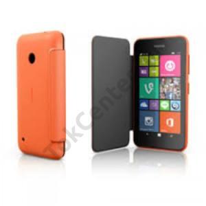 gyári Nokia Lumia 530 flip cover,Narancs