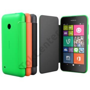 gyári Nokia Lumia 530 flip cover,Zöld