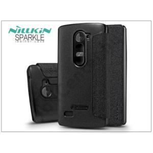 LG H340N Leon oldalra nyíló flipes tok - Nillkin Sparkle - fekete