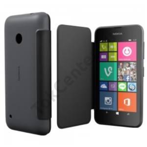 gyári Nokia Lumia 530 flip cover,Szürke
