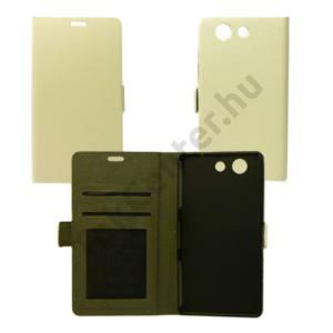 Sony Xperia Z5 Compact flip oldalra nyiló tok,Fehé