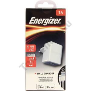 Energizer hálózati töltő, lightning, 1xUSB, 1A,