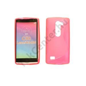 LG C50 Leon TPUS vékony szilikon hátlap,Pink