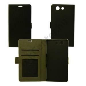 Huawei Y6 II flip oldalra nyiló tok, Fekete