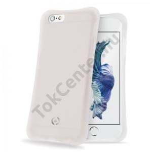Celly iPhone 6/6S ütésálló szilikon hátlap,Fehér