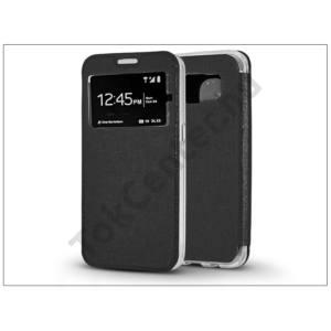 Samsung G935F Galaxy S7 Edge S-View Flexi oldalra nyíló flipes tok - fekete