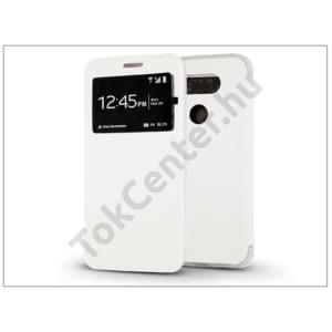 LG G5 H850 S-View Flexi oldalra nyíló flipes tok - fehér